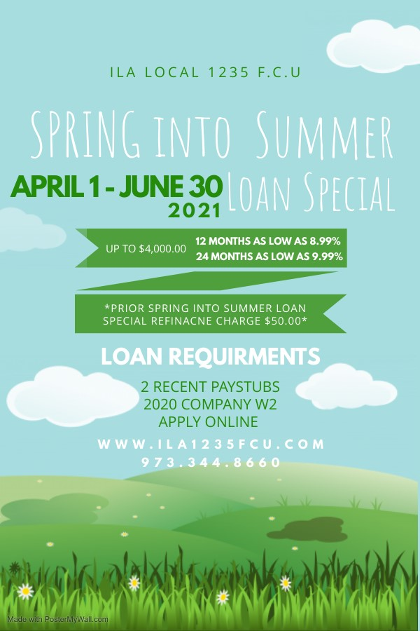 ILA Local 1235 FCU presents its spring to summer loan special