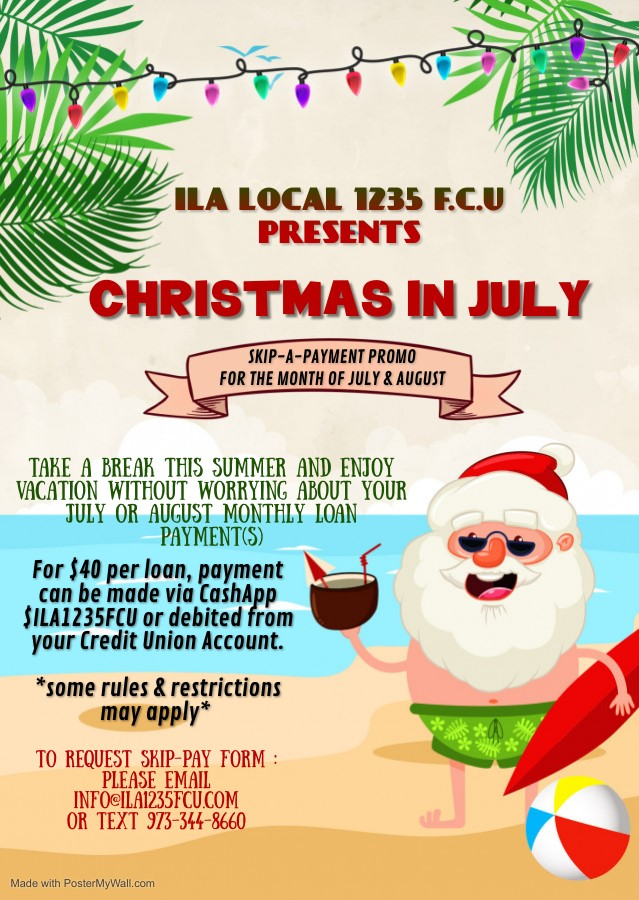 christmas in july skip a payment promo